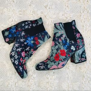Indigo Rd Crusona Floral Embroidered Ankle Boot